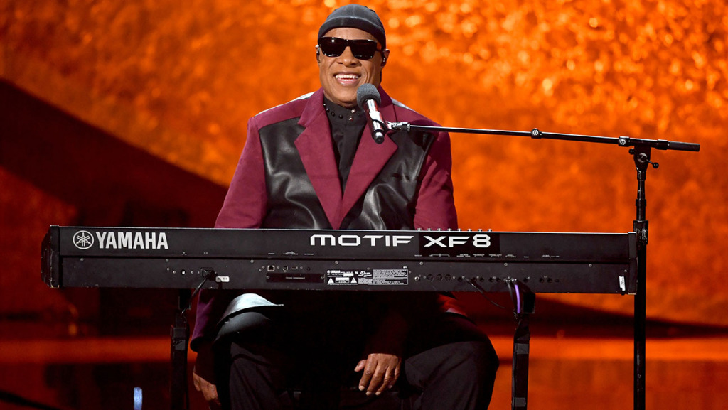 Stevie Wonder performs onstage at Q A Musical Celebration for Quincy Jones